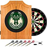 NBA Milwaukee Bucks Wood Dart Cabinet Set