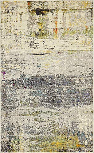 Unique Loom Chromatic Collection Modern Abstract Rustic Gray Area Rug (5' 0 x 8' - Area Olive Rectangular Rug