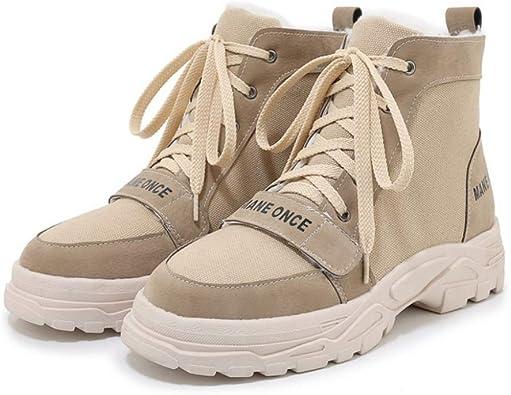 Zapatos de Lona de Alta Parte de Las Mujeres Lona de otoño e ...