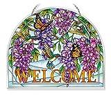 Amia Wisteria Glass Welcome Panel 10-1/2'' Multicolor