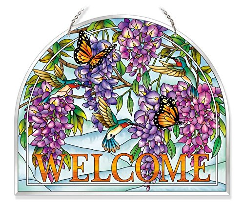 Amia Wisteria Glass Welcome Panel 10-1/2