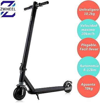 Zwheel Patinete Electrico S3 ZCat 20km/h 250W: Amazon.es: Deportes ...