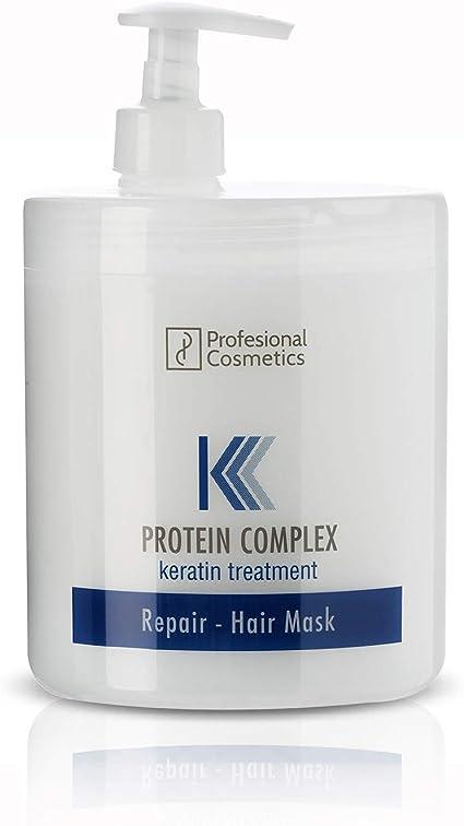 Profesional Cosmetics Protein Complex Keratin Treatment - Mascarilla para el pelo, 1000 ml