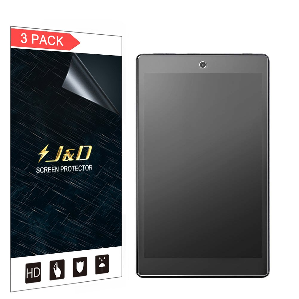 J&D Compatible for 8-Pack New Fire HD 8 2018/Fire HD 8 Kids Edition/New Fire HD 8 2017 Screen Protector, [Anti-Glare] Matte Film Shield Screen Protector for Amazon Fire HD 8 2016 Screen Protector