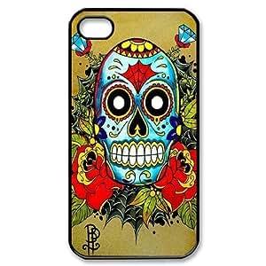 ALICASE Diy Customized hard Case Sugar Skull For Iphone 4/4s [Pattern-1]