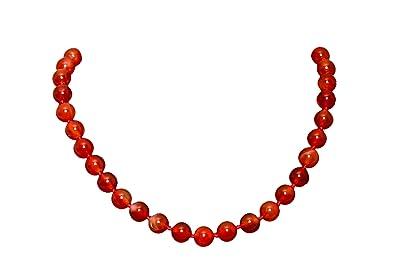 Rot Achat Stein Halskette Choker Fur Frauen Madchen Lange 45cm