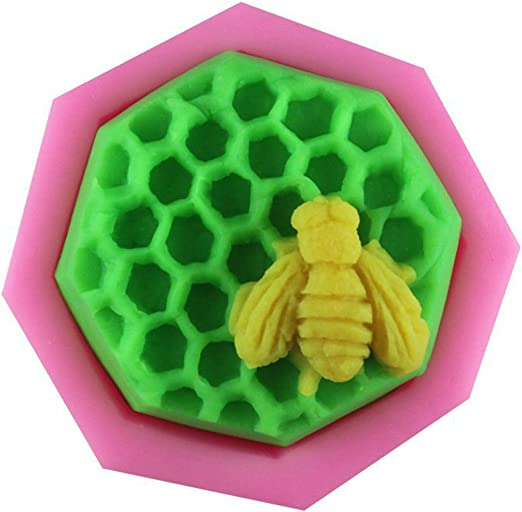 2.5 Bee Honeycomb 50188 Craft Art Silicone Soap Mold Craft Molds DIY