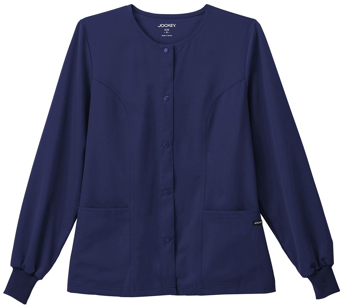 Classic Fit Collection By Jockey Women's Round Neck Solid Scrub Jacket XX-Large New Navy