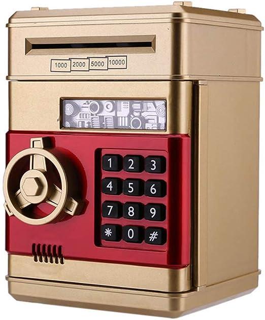 Wenhu Hucha electrónica Caja de Dinero Segura para niños Monedas ...