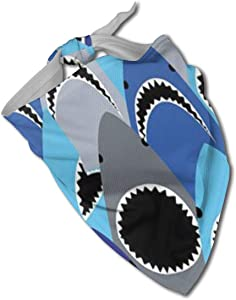 DWWJ-GY Shark Bite Dog Bandana Pet Triangle Scarf Kerchief Set Accessories for Cats Pets Animals