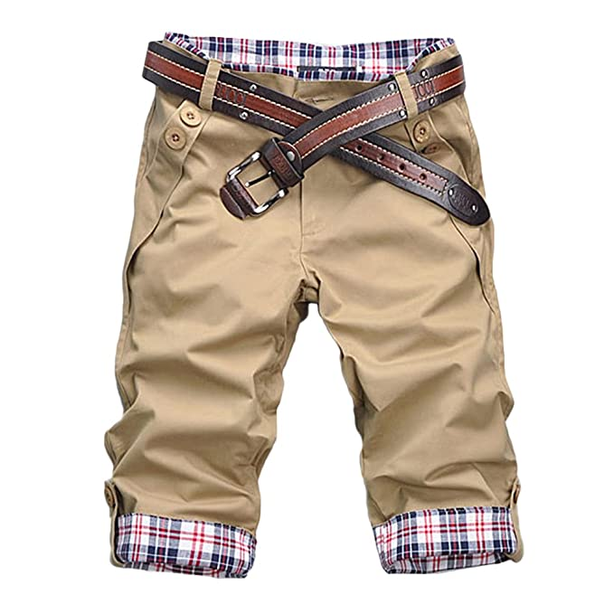 Hibote Pantalones cortos de Hombre - Bermudas Sport Cargo Casual Algodón Shorts multi bolsillos Deporte Shorts Verano Viaje al aire libre S… 8woHXsT