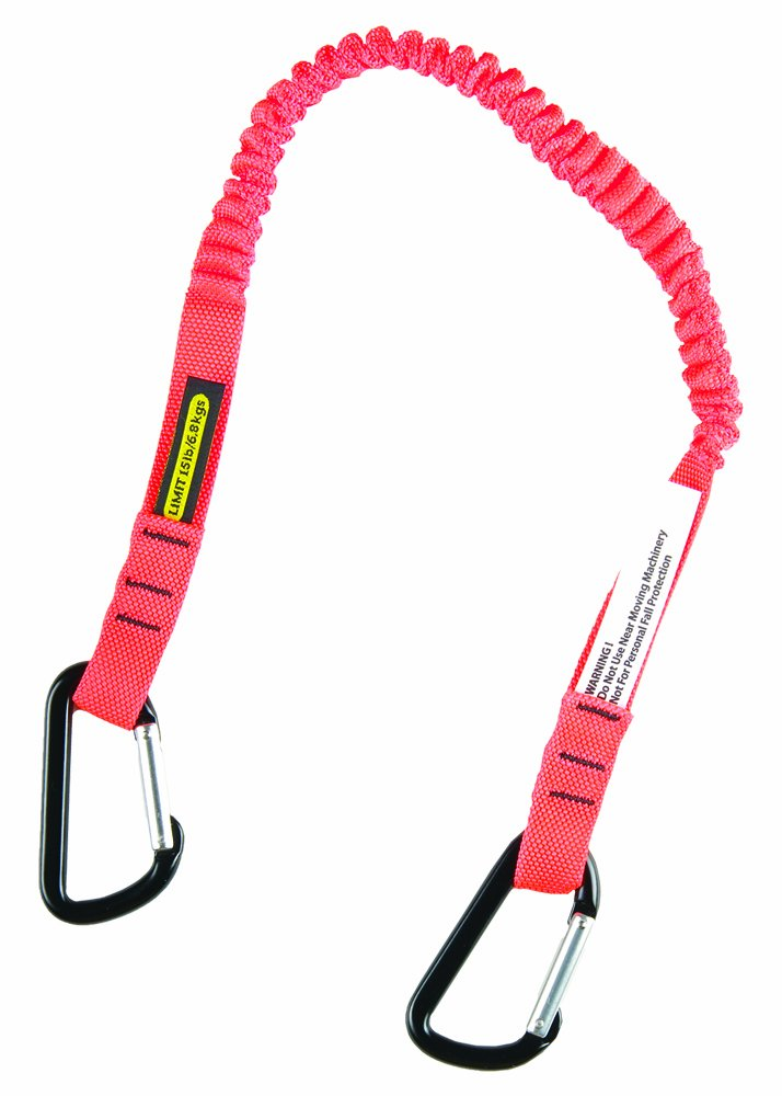 Gear Keeper TL1-3011 3/4'' Super Coil Personal Tool Tether/Lanyard with Double Aluminum Carabiners, 21'' - 42'' Length