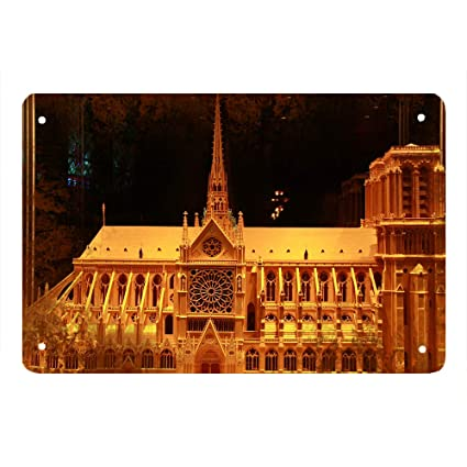 Amazon Com Walldector Notre Dame De Paris Landscape Iron
