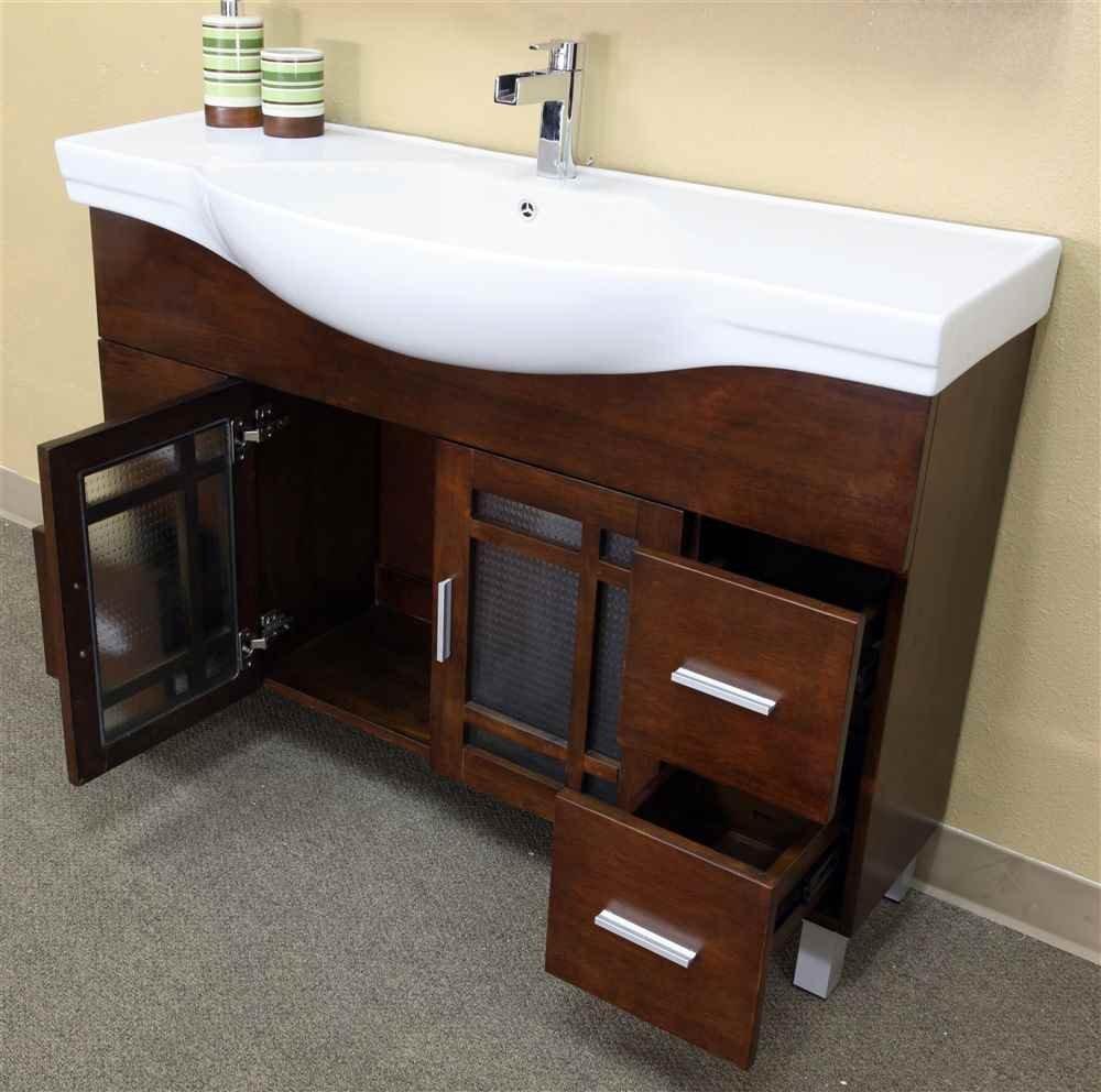 Bellaterra Home 203138 48 Inch Single Sink Vanity, Wood, Walnut      Amazon.com