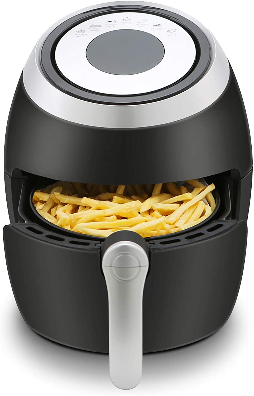 Antarctic Star 3.8 Quart Air Fryer Hot Deep Fryer Free Chip Digital Touch Screen 7 Presets, Auto Shutoff Nonstick Basket with Cookbook Oilless Cooker Roasting/Baking 1700W (7 Presets+Digital, 3.8QT)