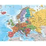 Poster Europakarte - englisch - Größe 40 x 50 cm - Miniposter