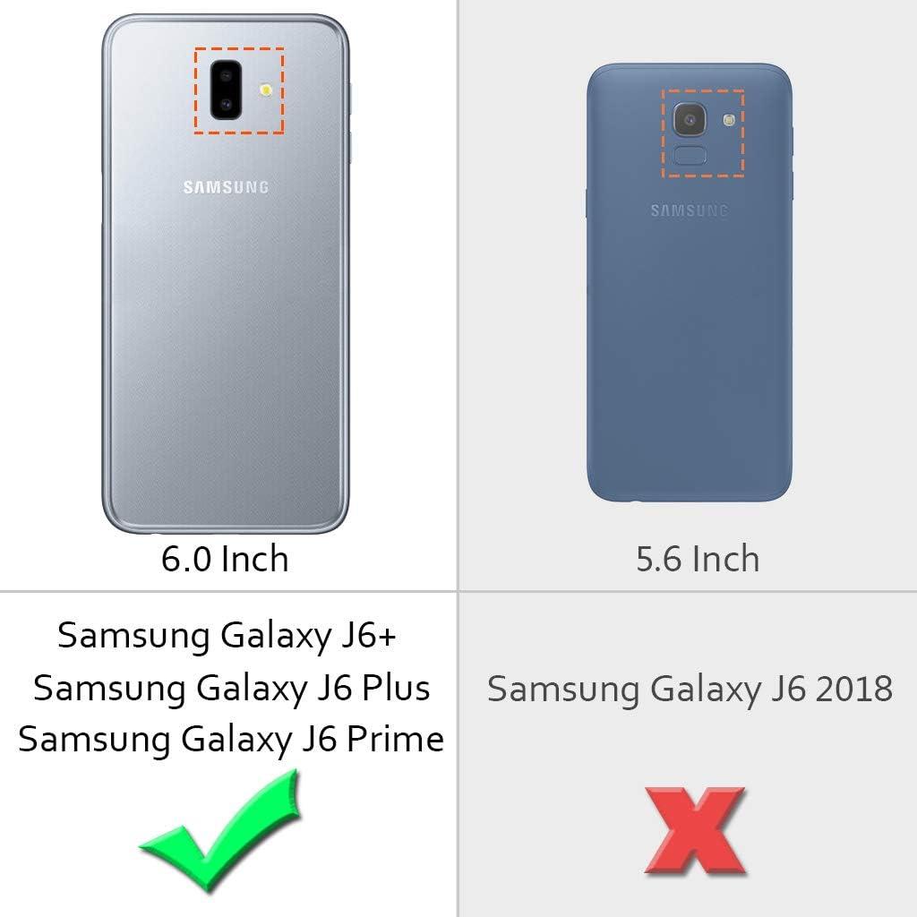 2018 Abuenora Funda para Samsung Galaxy J6 Galaxy J6 Plus Carcasa Transparente Antigolpes 360 Case Silicona con Purpurina Lentejuelas L/íquido Agua TPU Dibujo Unicornio