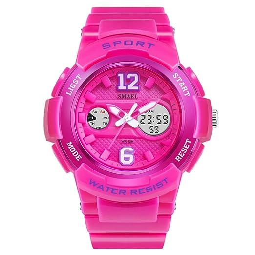 Reloj Digital para Mujer para Niñas Relojes Deportivos para Mujer Pink: Amazon.es: Relojes
