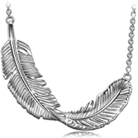 PRINCESS NINA Whisper 925 Sterling Silver Plume Series Pendant Necklace, Bracelet [Sold Separately] for Women, Elegant Jewellery Box, Every Special Moment