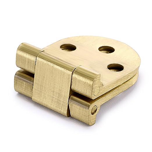 Ignion - Bisagra plegable para muebles y máquinas de coser de 180 grados con tornillos, 2 unidades: Amazon.es: Bricolaje y herramientas