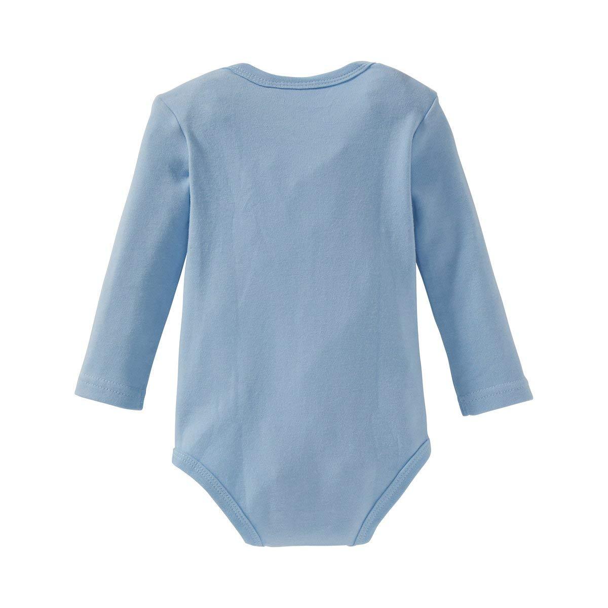 Bornino Body langarm mehrfarbig 3er-Pack Babybody mit Schlupfkragen /& Druckkn/öpfen im Schritt - Baby-Unterw/äsche aus reiner Baumwolle