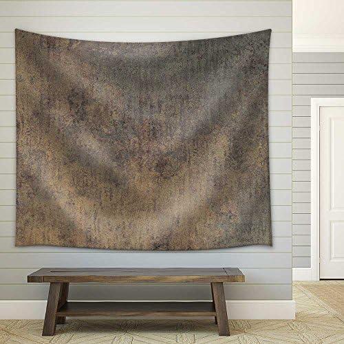 Rusty Iron Plate Textured Fabric Wall