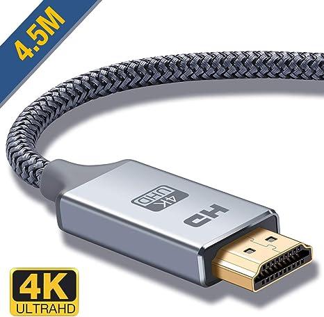 5m HDMI Kabel 3D HighSpeed with Ethernet A-Stecker FULL HD TV 4K vergoldet HDCP