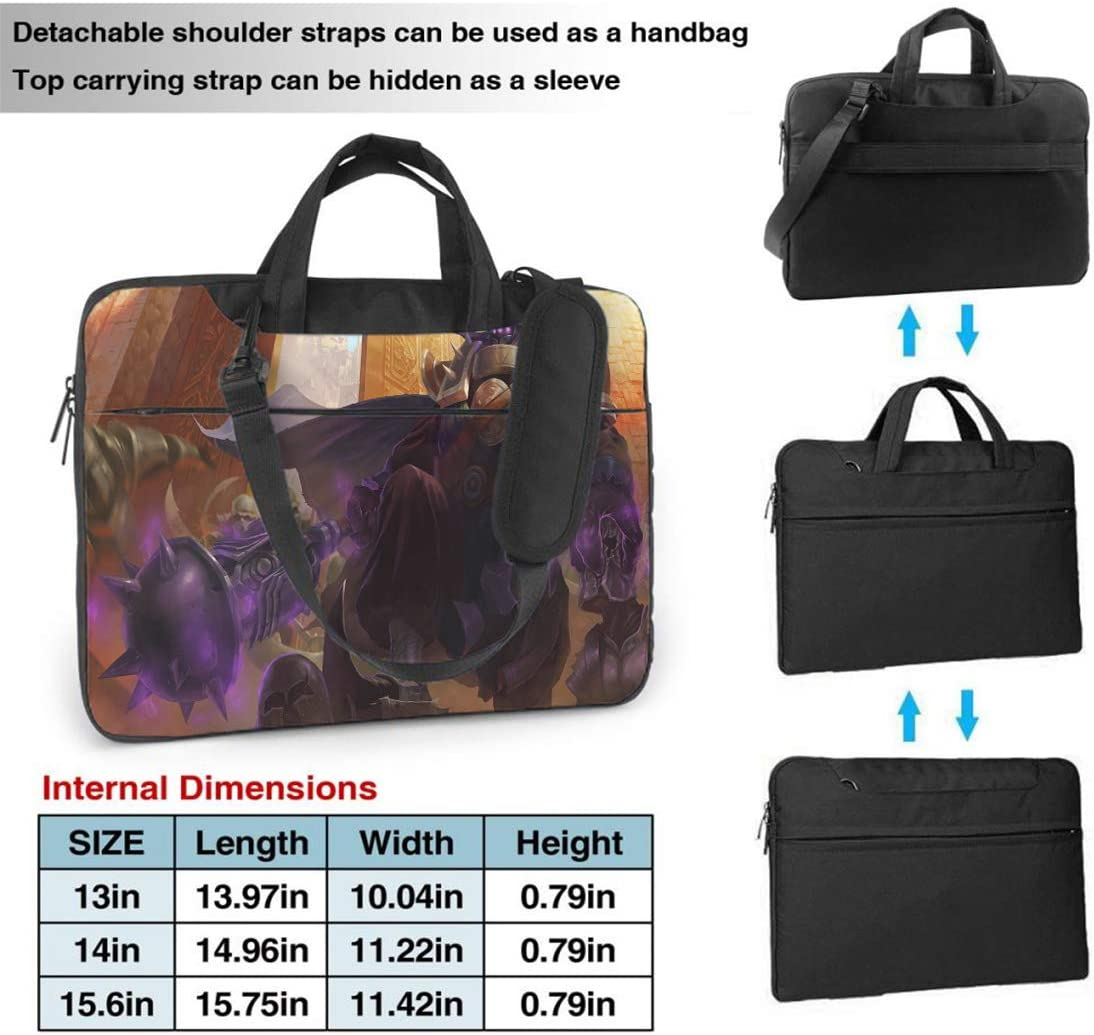 15.6 Inch Laptop Bag League Legends for Women and Men Tablet Shoulder Bag Carrying Case Business Office Work Bag Champion Kennen Md Laptop Sleeve Briefcase