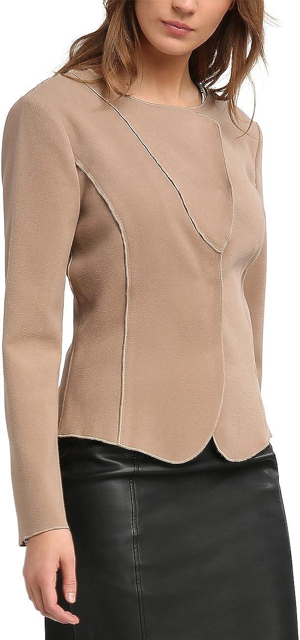 TALLA 36. APART Fashion Taupe-Black-Print, Torera para Mujer