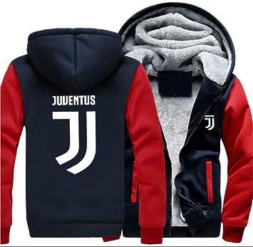 メンズフーディーフルジッパープリントユベントスアルファベットベルベットパッド入りフード付きセーターコートフリースフーディー、冬に適しています