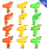 DomeStar Mini Water Gun, 12PCS Water Blaster Squirt Gun Water Soaker Water Fight Toys for Swimming Pool Beach Sand