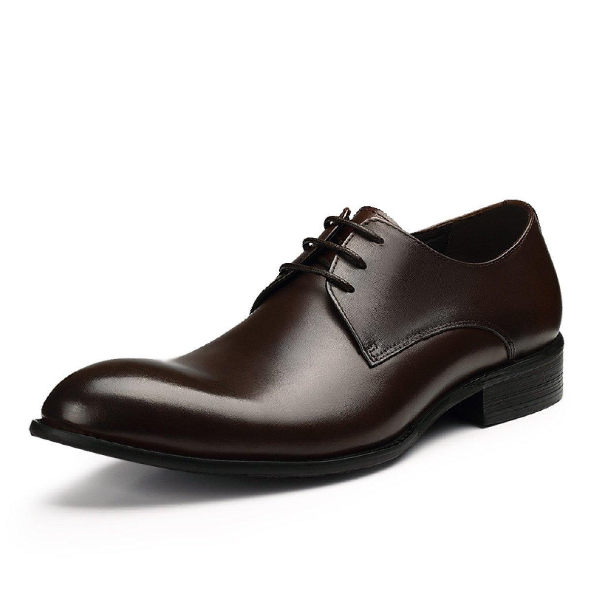 GRRONG Mauml;nner Mode-Business Kleid Schuhe Bequem Atmungs Bankett Schuhe  40 Brown