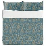 African Trophies Duvet Bed Set 3 Piece Set Duvet Cover - 2 Pillow Shams - Luxury Microfiber, Soft, Breathable