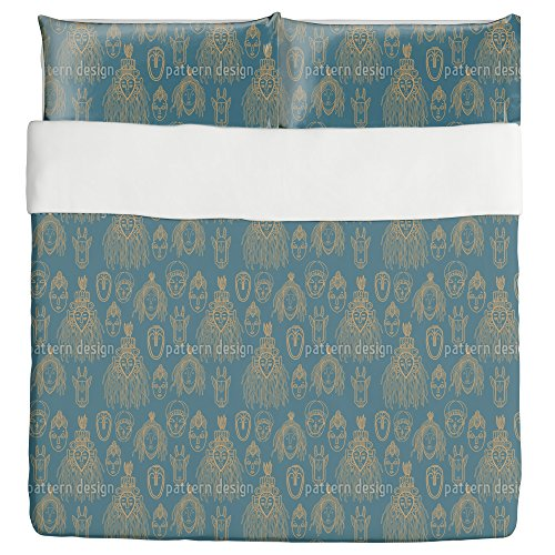 African Trophies Duvet Bed Set 3 Piece Set Duvet Cover - 2 Pillow Shams - Luxury Microfiber, Soft, Breathable by uneekee