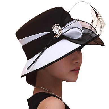 Leistungssportbekleidung aliexpress Shop für Beamte June's Young Damen-Hüte Chiffonhut eleganter Hut Schmuck Blumen