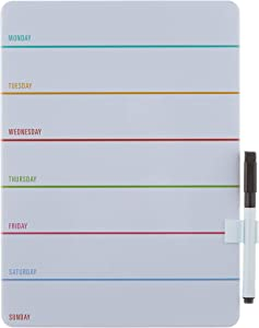Kikkerland Weekly Dry Erase Board (MH70)