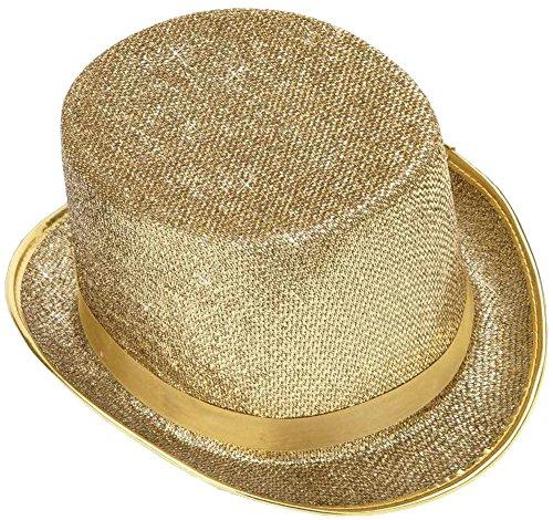 Forum Novelties Men's Adult Glitter Mesh Costume Hat, Gold, One Size