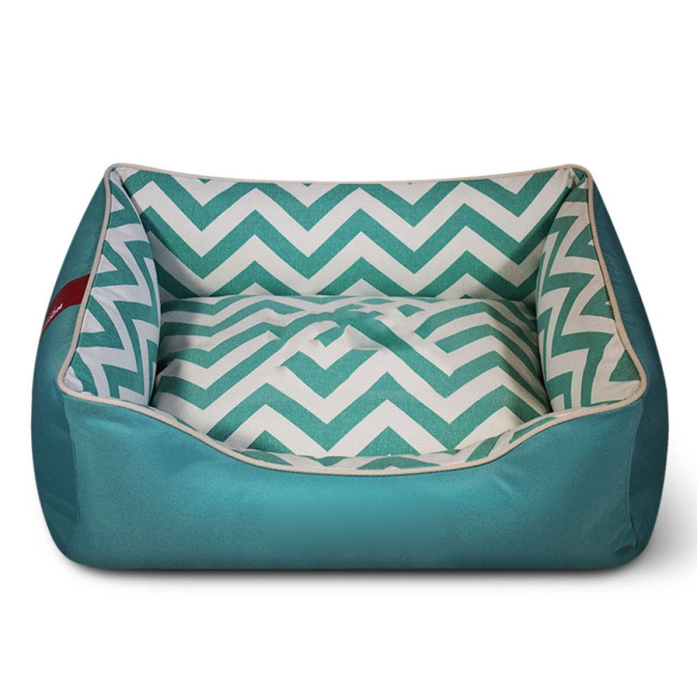 Green 4558cm Green 4558cm ANHPI Cotton Dog House Removable And Washable Four Seasons General Large Dog Mattress Sofa Cushions,Green-45  58cm