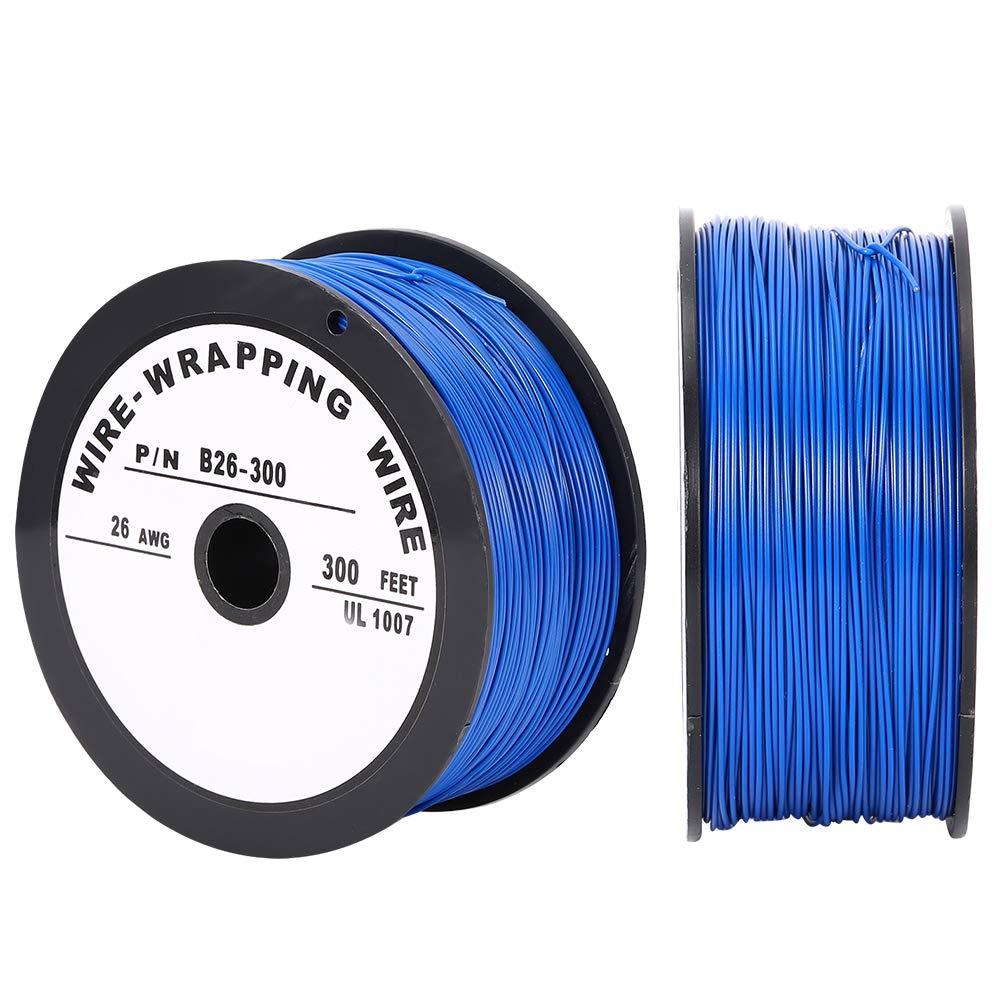 Biuzi Cable el/éctrico UL1007 Cable el/éctrico Cable de cobre esta/ñado 100 metros 26AWG Cable el/éctrico UL1007