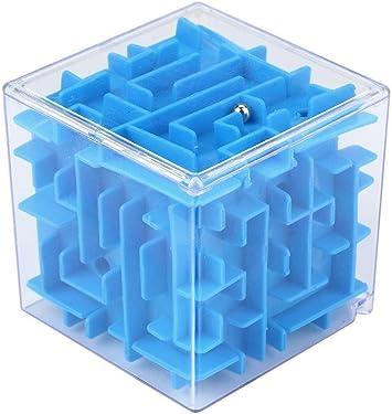 Cubo Del Laberinto Del Dinero, Holacha 3D Mágico Cuadrado Maze Juego de Cubo de Rompecabezas para chicos adultos (Azul): Amazon.es: Juguetes y juegos