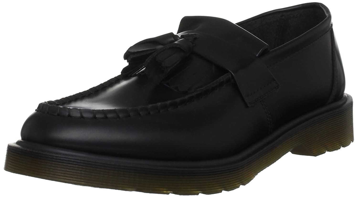 Dr. Martens Adrian Core Polished SMO, Scarpe Stringate Basse Brogue Unisex – Adulto Nero
