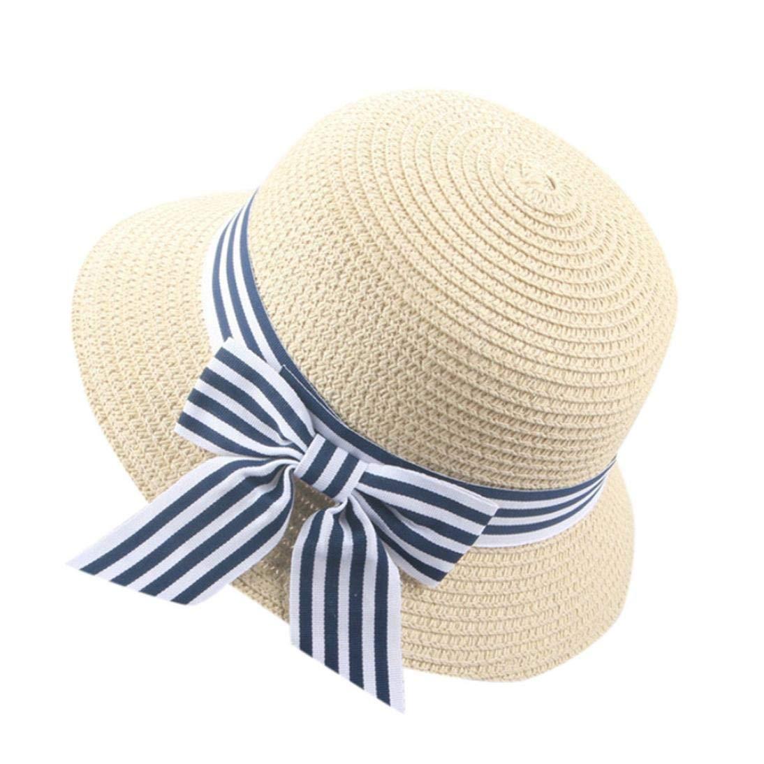 Verano Sombrero de Color Puro para Fiesta Ceremonia Bebé Gorras con Bowknot  Niñas Niños Sombrero del 5eb91225df1