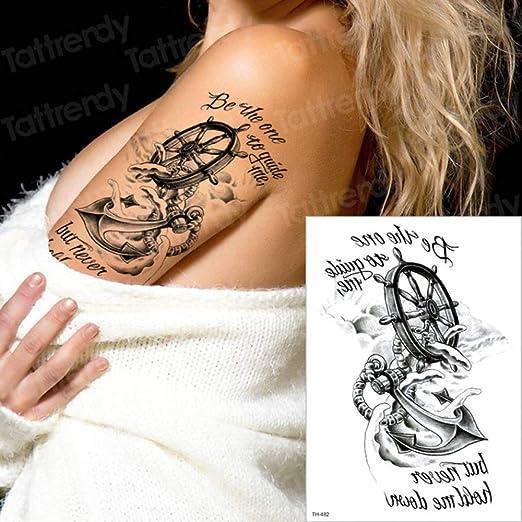 3pcs Tatuaje Brazo Manga Tatuaje Apliques patrón 3pcs-2: Amazon.es ...