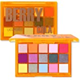 UCANBE Colorful 15 Shades Eyeshadow Makeup Palette,Shimmer Matte Metallic High Pigmented Neutral Bold Waterproof Eyes Shadow,