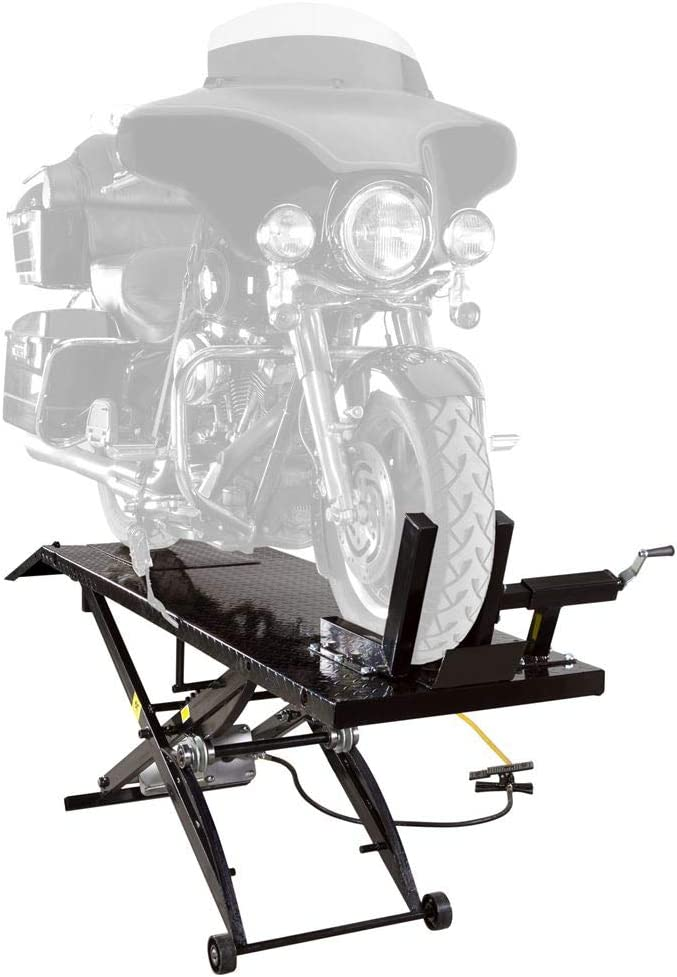 Rage Powersports Black Widow BW-1000A Air-Operated Motorcycle Lift Table