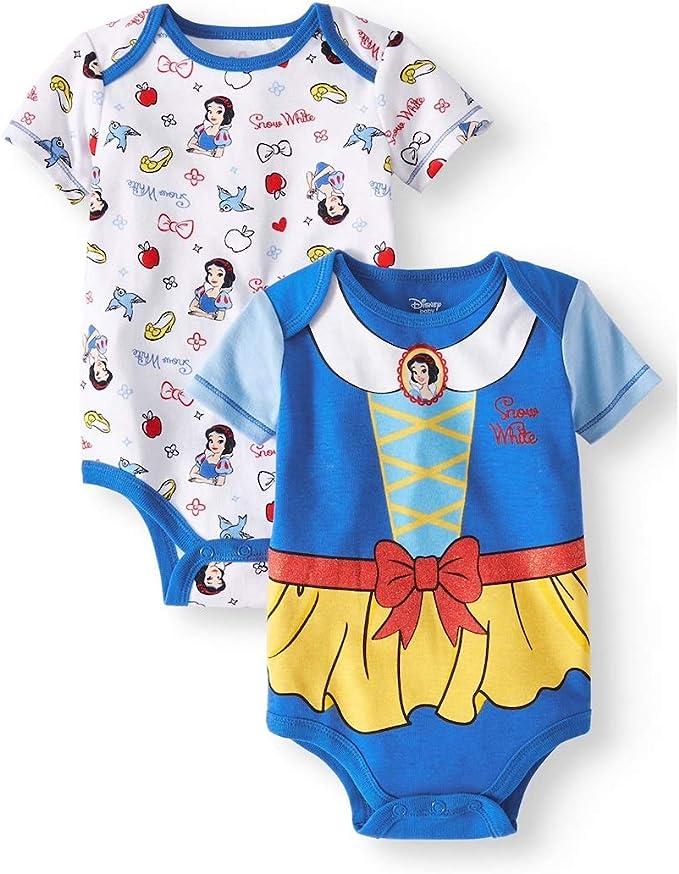 Disney Princess Ariel Belle Snow White Newborn Baby Dress Infant Cotton Clothes