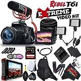 Canon EOS Rebel T6i DSLR Camera with EF-S 18-55mm f/3.5-5.6 IS STM Lens 0591C003 + Rode VideoMic GO + Atomos Ninja Flame 7 4K HDMI Recording Monitor Cinema Bundle