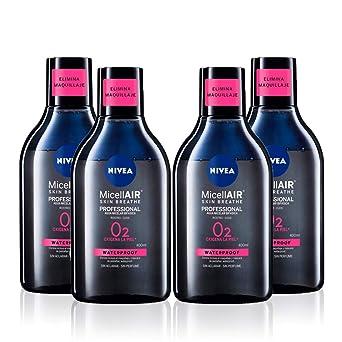 NIVEA MicellAIR Professional Agua Micelar Bifásica en pack de 4 (4 ...