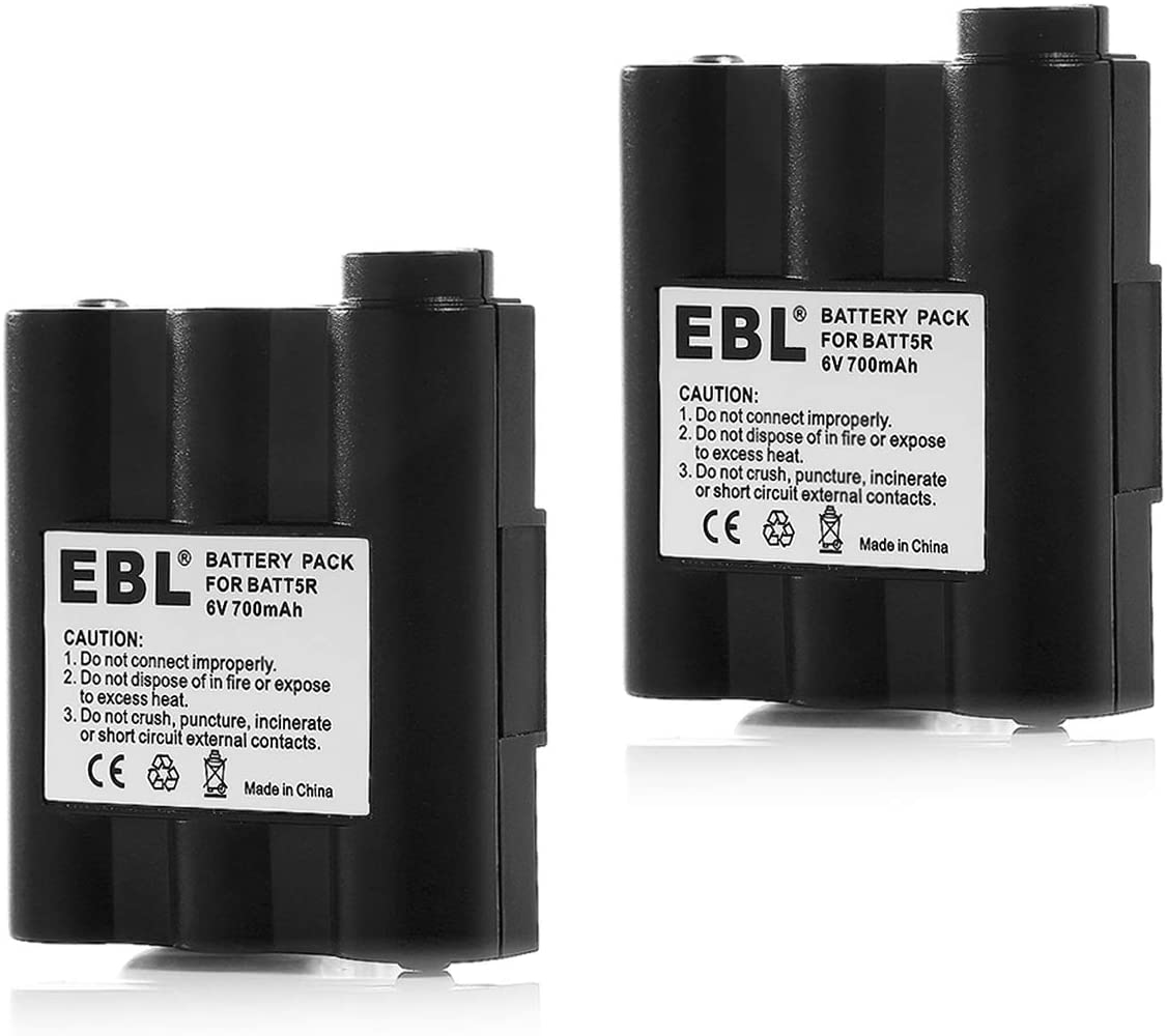 EBL BATT5R AVP7 Replacement Rechargeable Battery for Walkie Talkie GXT1000 GXT1050 GXT850 GXT860 GXT900 GXT950 and More, 2 Pack: Home Audio & Theater