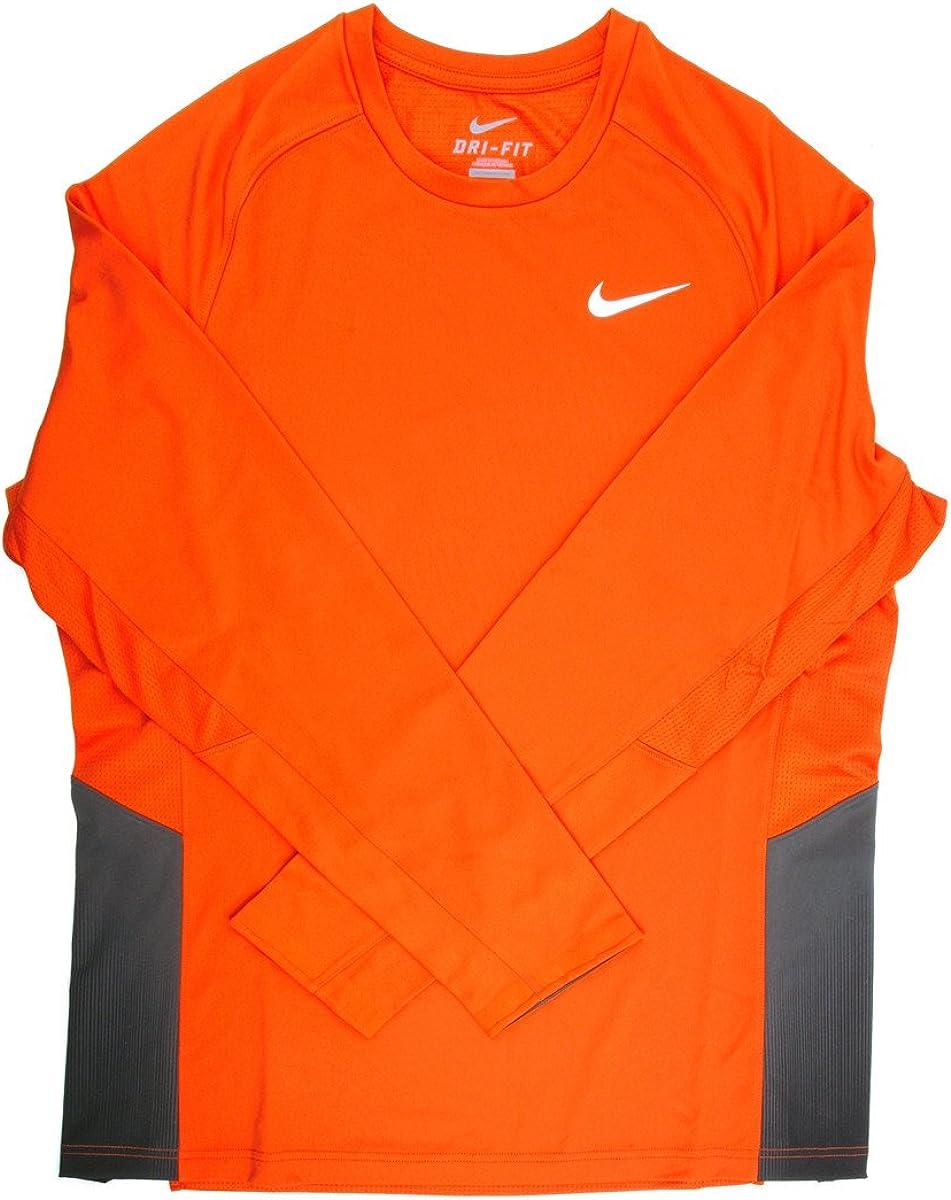 Clinica doppio strato rappresentazione  Amazon.com: Nike Dri-Fit Men's Long Sleeve Orange/Black Training Shirt -  Extra Small: Clothing